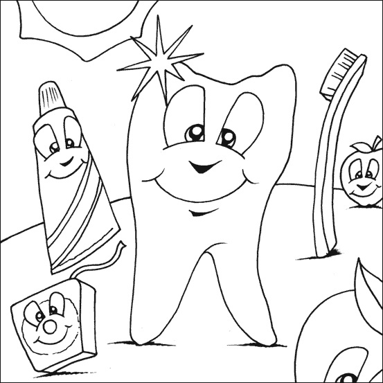 coloring pages for tongue teeth - photo#38
